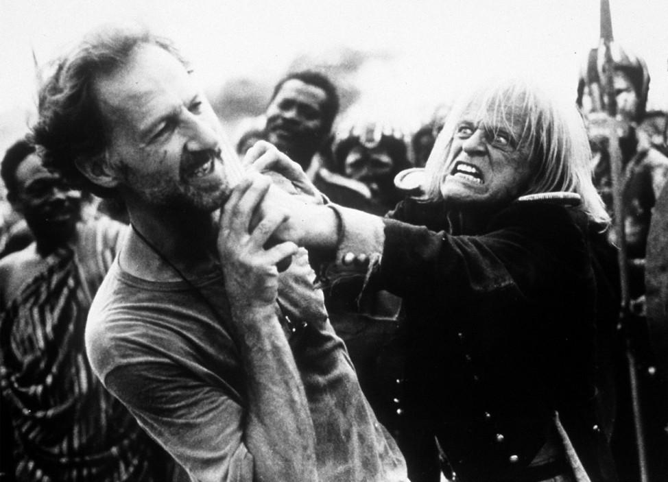 """Regisseur Werner Herzog und Schauspieler Klaus Kinski in dem Film \""""Mein liebster Feind\"""""""