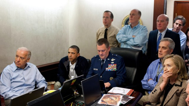 President Pbama and National Security Team receive an update on B