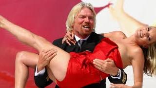Richard Branson Kate Moss Virgin Atlantic; Getty Images