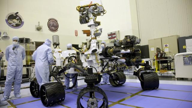 NASA handout photo of the MSL Curiosity in Pasadena