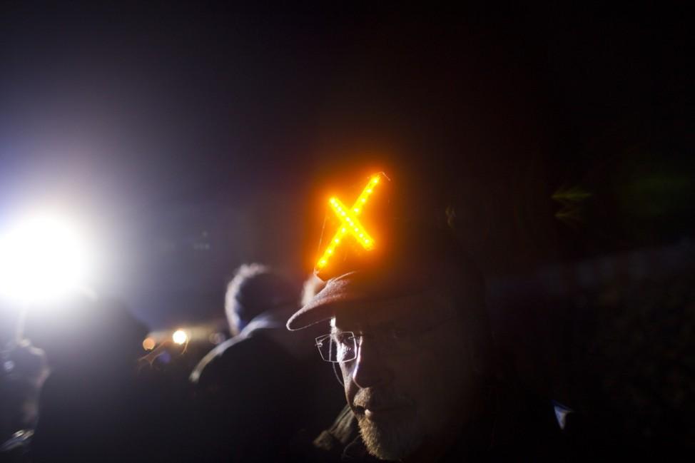 Demonstrators Protest Castor Nuclear Waste Transport