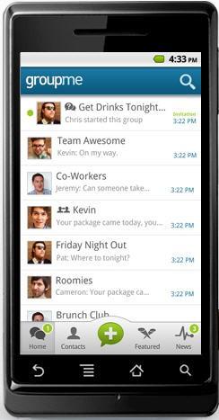 GroupMe, SMS, Whatsapp, Smartphone,