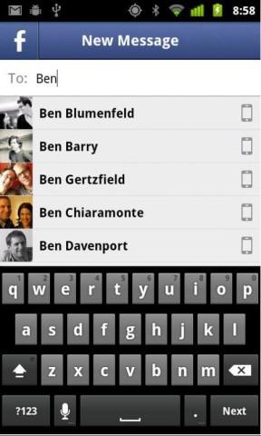 Facebook Messenger, SMS, Whatsapp, Smartphone,