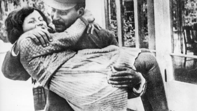 Swetlana Allilujewa mit Josef Stalin, 1937