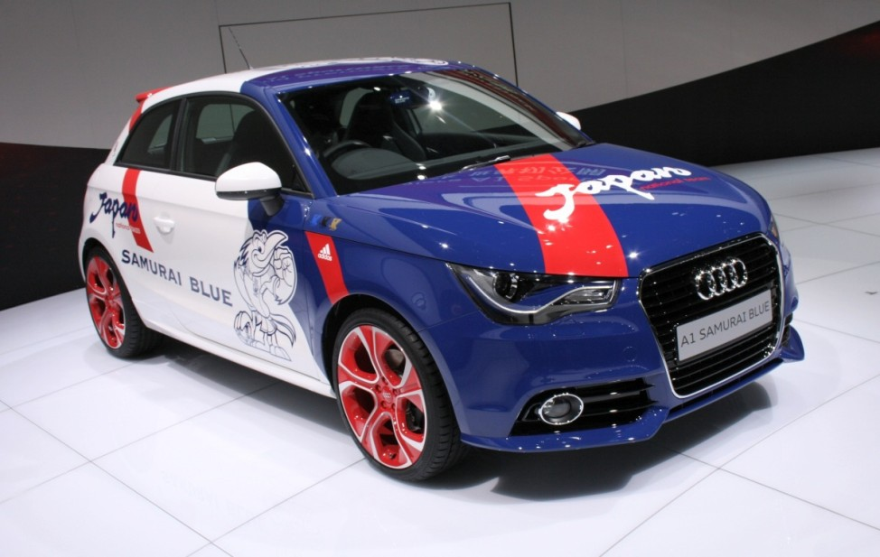 Schwere Wiedergeburt Audi A1 Samurai Blue Tokyo Motor Show