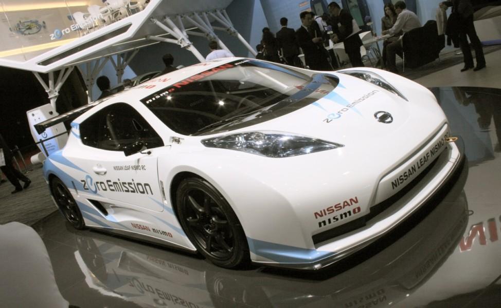 Schwere Wiedergeburt Nissan Leaf Nismo RC Tokyo Motor Show