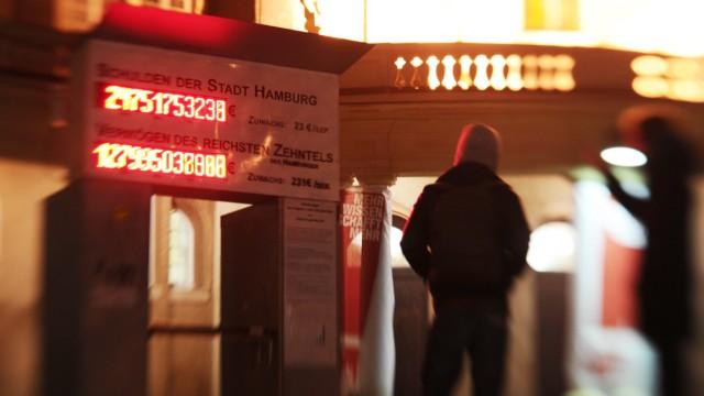 Schuldenuhr in Hamburg