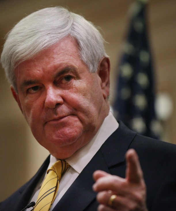 GOP Presidential Hopeful Newt Gingrich Holds Town Hall In Southern Florida