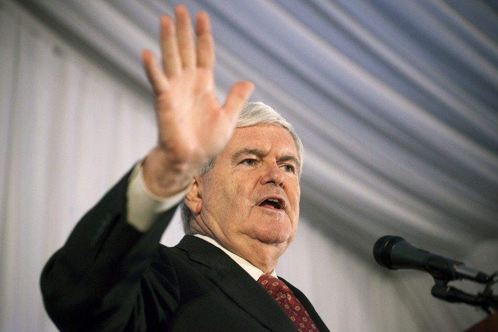 Republican Presidential Hopeful Newt Gingrich Holds Town Hall On Staten Island