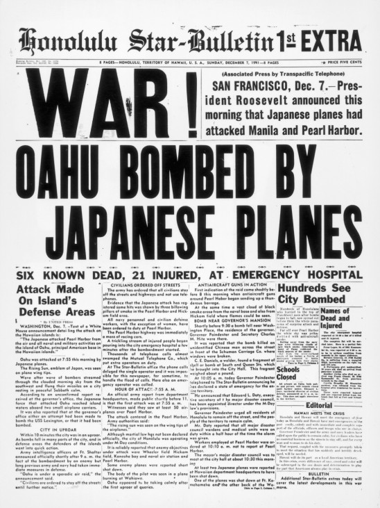 FILE PHOTO: 70 Years Since Japan Launched An Attack On Pearl Harbor
