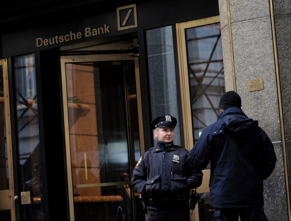 Security at Deutsche Bank in New York