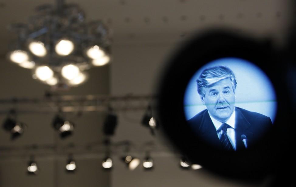 File photo of Josef Ackermann CEO of Deutsche Bank