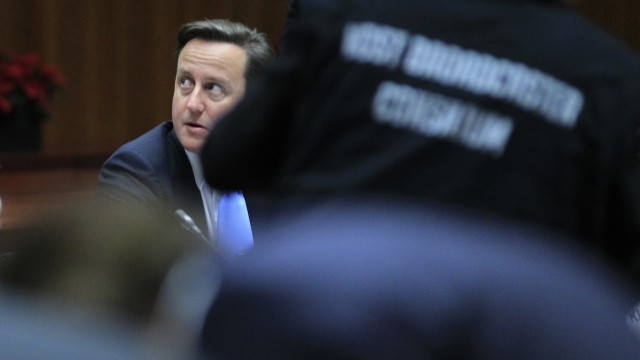 Britain's Prime Minister Cameron attends a European Union summit in Brussels