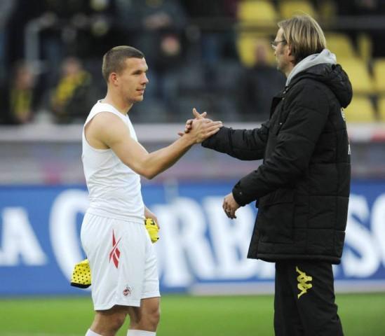 Lukas Podolski Jürgen Klopp