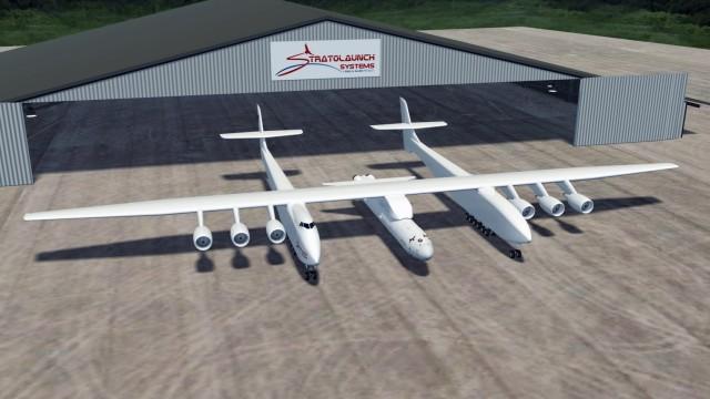 Riesenflugzeug als Startrampe für Raumfahrzeuge geplant