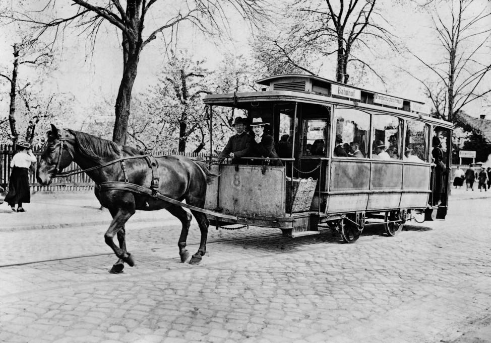 Pferdetrambahn in Berlin