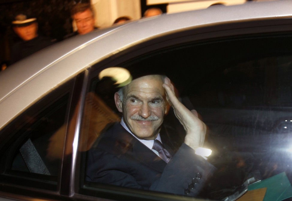 PLEASE HOLD - To match Insight GREECE-PAPANDREOU/