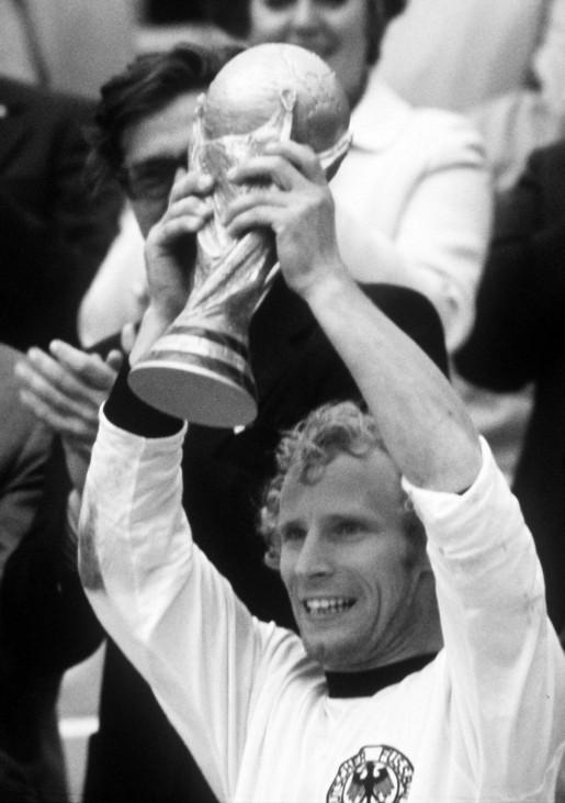 Berti Vogts als Fußballweltmeister 1974