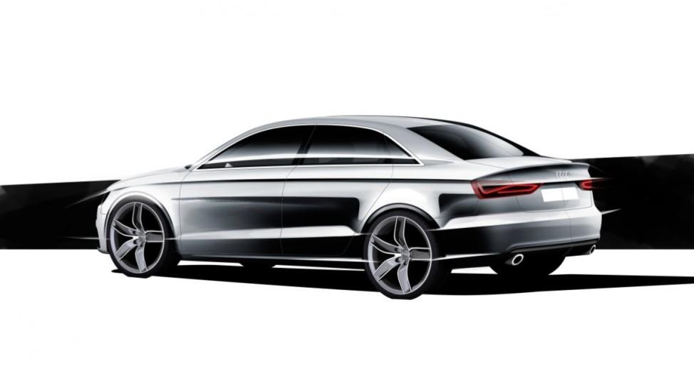 Kleine Klasse Audi A3 Designskizze