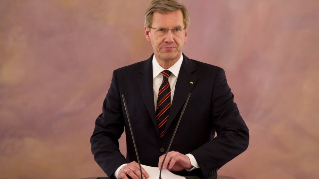 Bundespraesident Wulff gibt Erklaerung ab