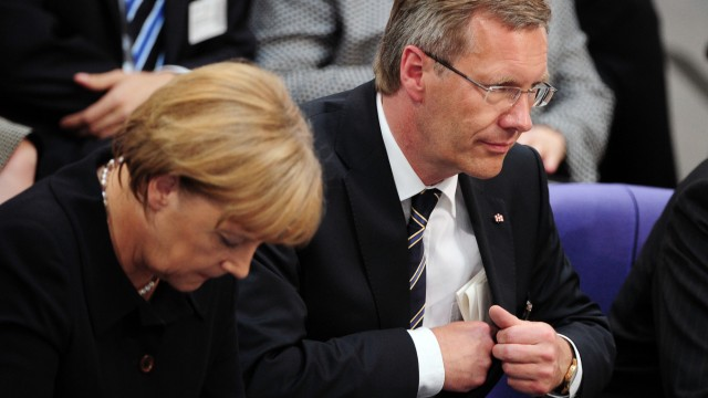 Christian Wulff und Angela Merkel