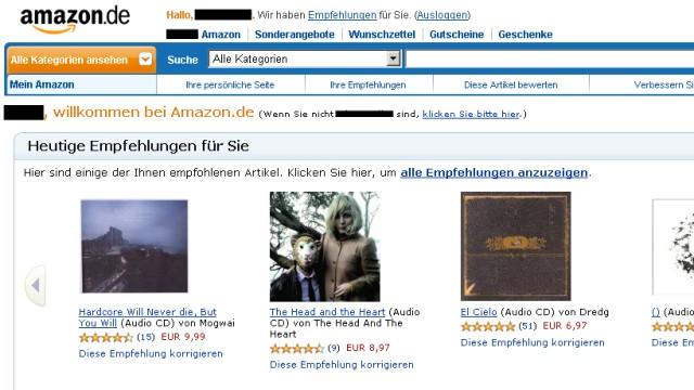 Amazon-Empfehlungen