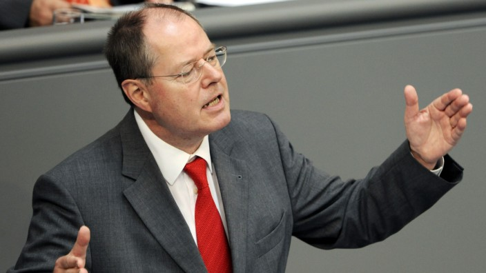 Bundestag - Rede Steinbrück