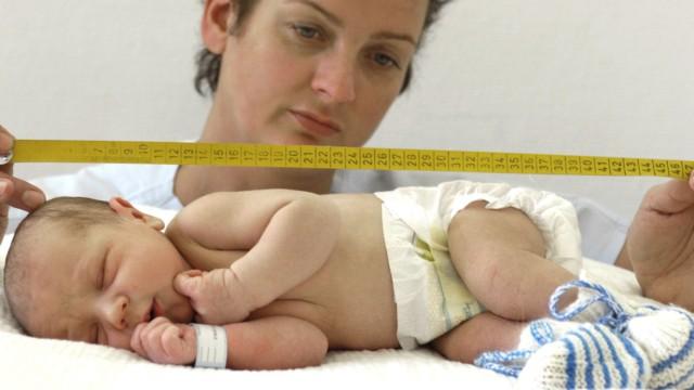 Kinder werden größer und dicker geboren