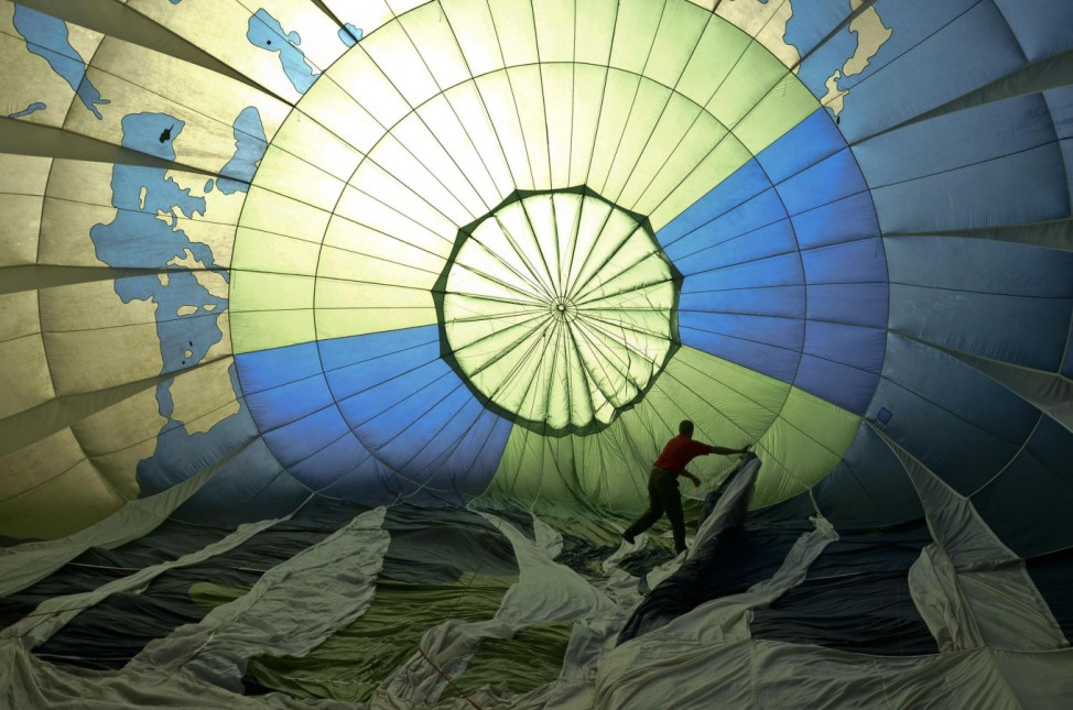 Greenpeace Hot Air Balloons Fly Over Mahaan Forests Threatened By