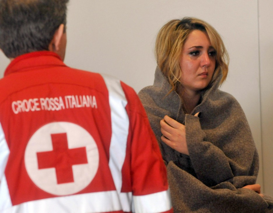 Passengers of the cruise ship Costa Concordia, which ran aground