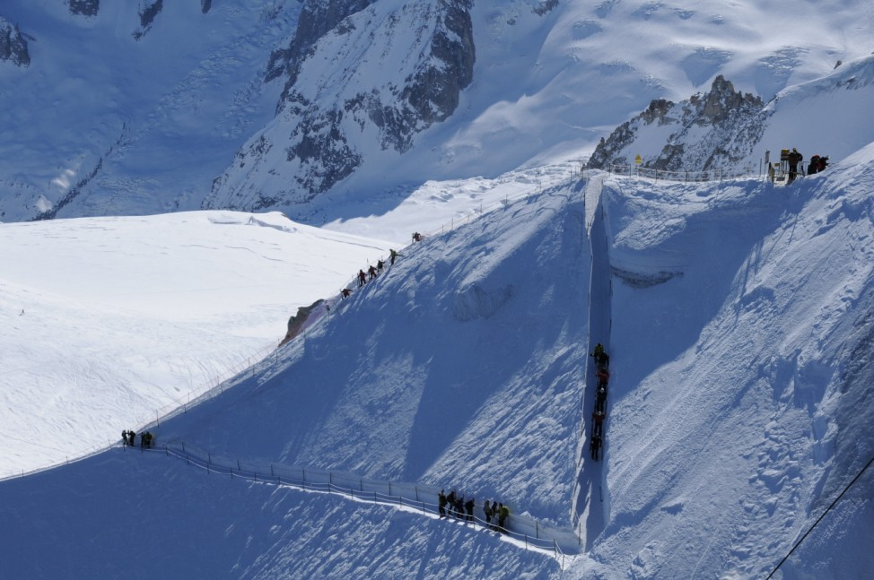 Chamonix Frankreich Aiguille du Midi Chamonix Vallée Blanche