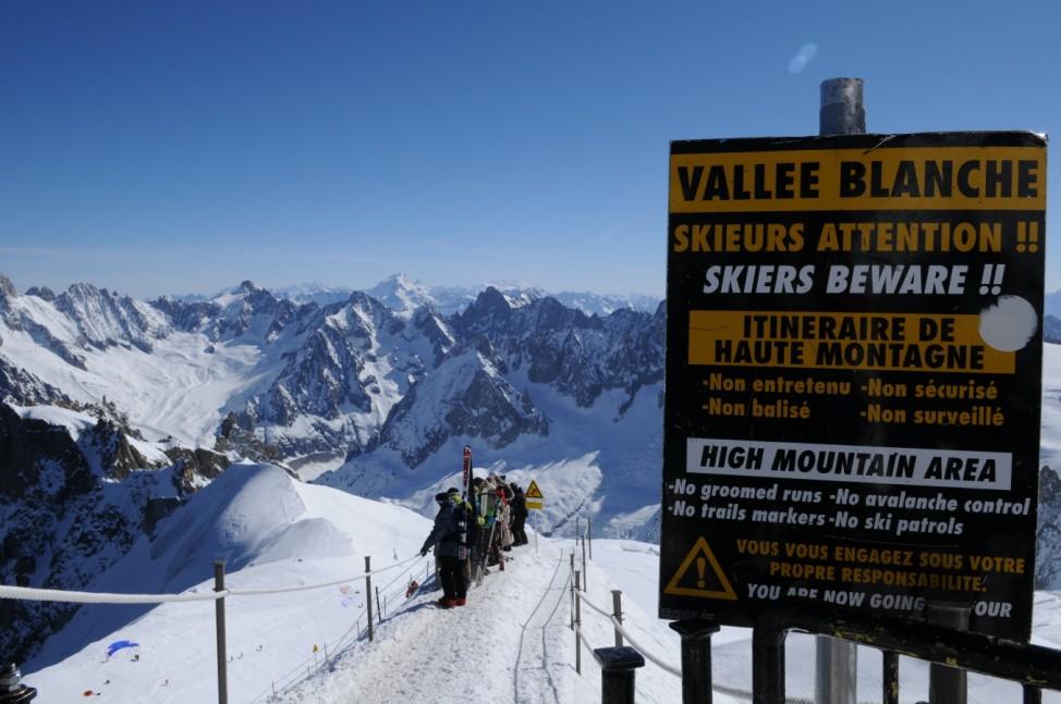 Chamonix Frankreich Aiguille du Midi Vallée Blanche