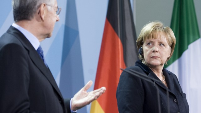 Bundeskanzlerin Merkel empfaengt Italiens Ministerpraesidenten
