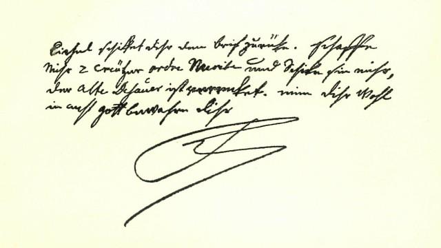 Der alte Fritz Brief Friedrich II. an seinen engsten Vertrauten Fredersdorf. Repro: Oliver Das Gupta
