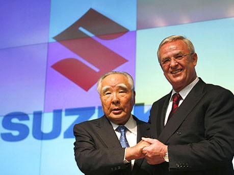 Osamu Suzuki, Martin Winterkorn, Foto: Reuters
