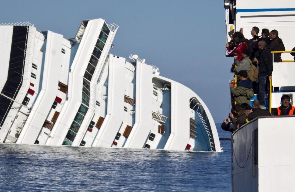 The wreck of Costa Concordia