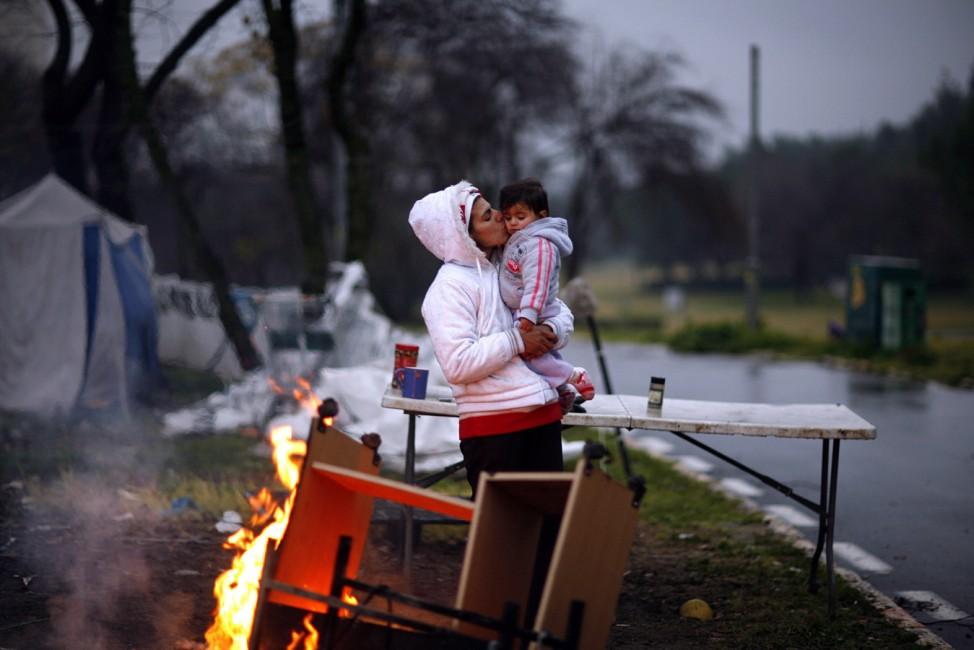 Israeli homeless people in Sacher Park in Jerusalem