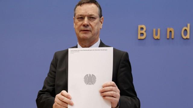 Parliamentary commissioner for German Bundeswehr Koenigshaus presentS annual report in Berlin