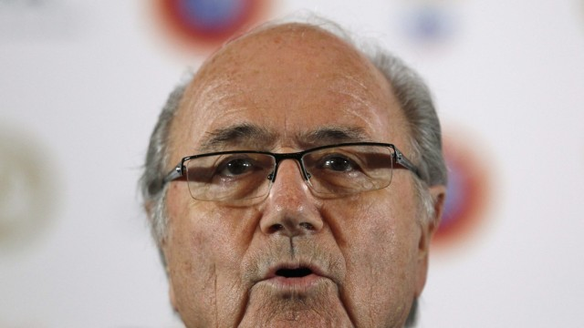 FIFA President Blatter speaks during a news conference at the Europa Hotel in St. Petersburg