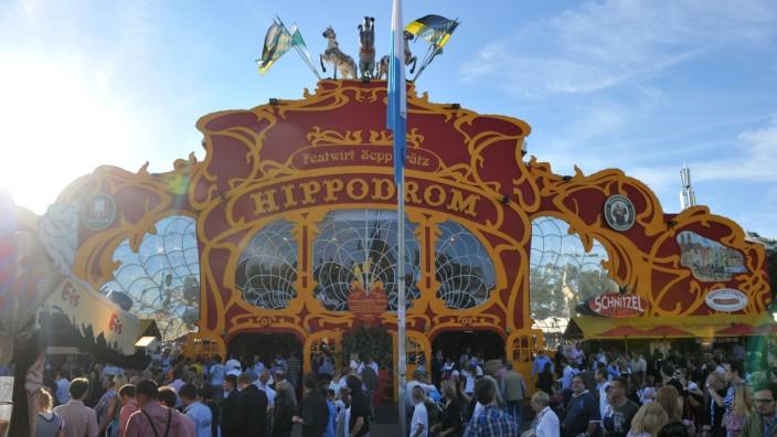 Das Hippodrom-Zelt auf dem Oktoberfest.