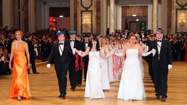 WKR-Ball of student fraternities in Vienna
