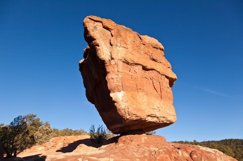 Geologie Felsen Erosion Verwitterung Garden of Gods Colorado