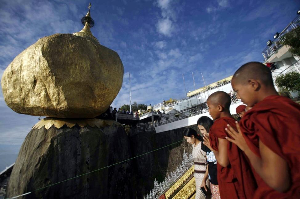 Geologie Felsen Erosion Verwitterung Burma