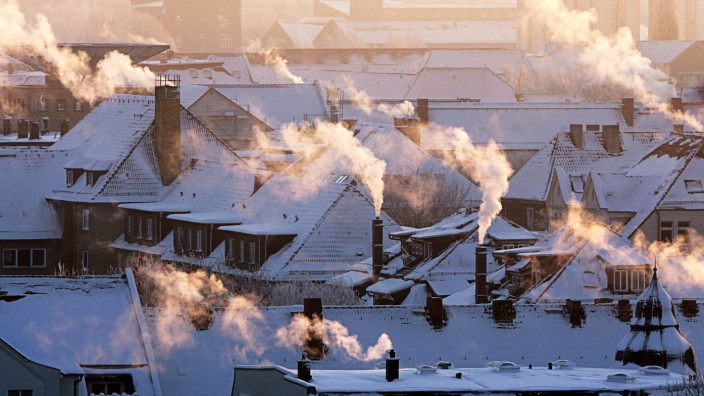 Knackiger Winter - Schornsteine