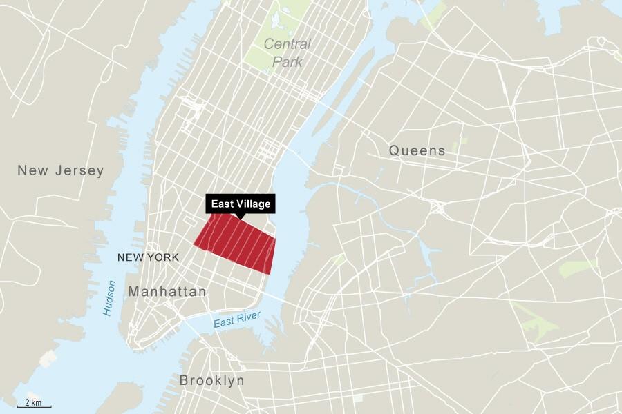 east village new york Infografik