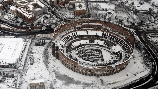 snow aerial