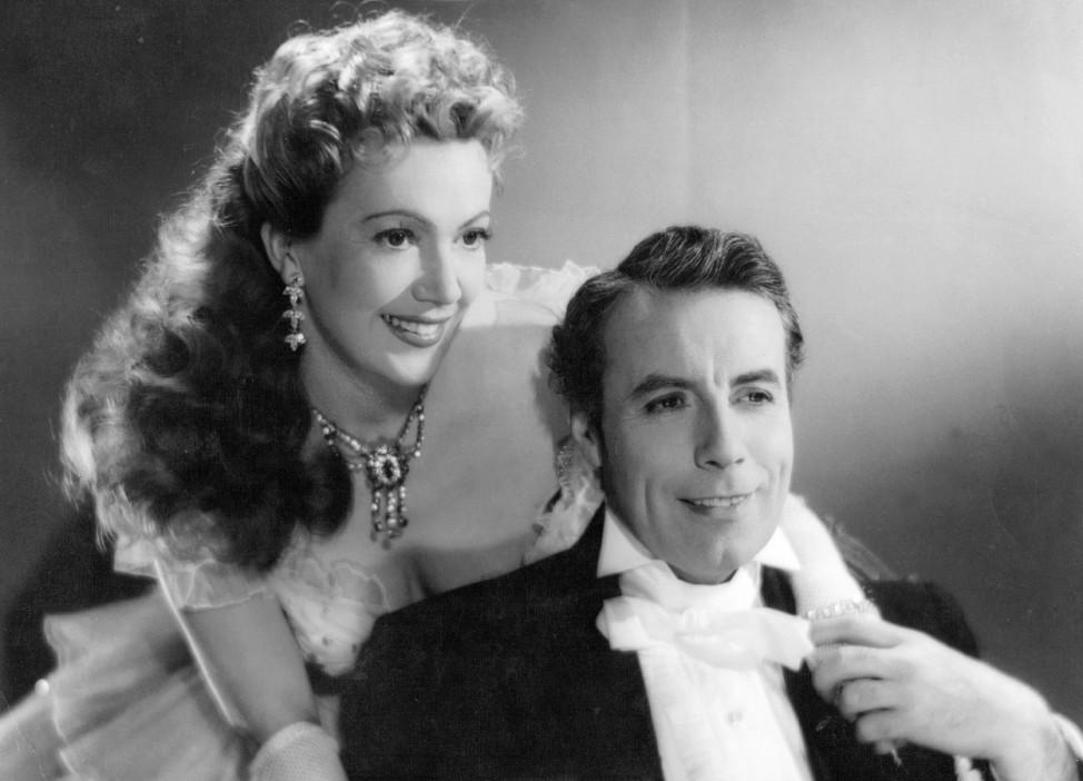 Szene aus dem Film ' Bel Ami ', 1954