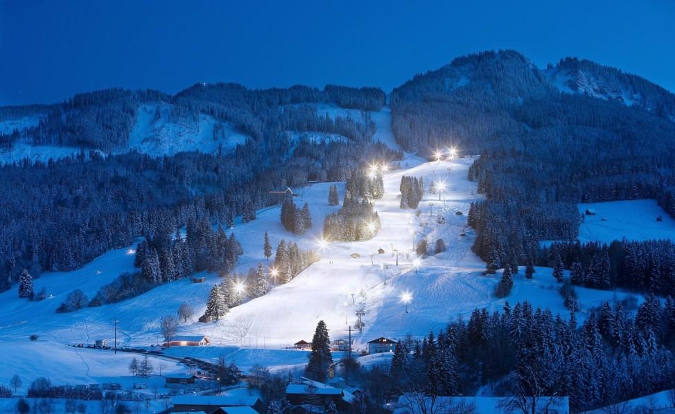 Winter Ski Familienpisten