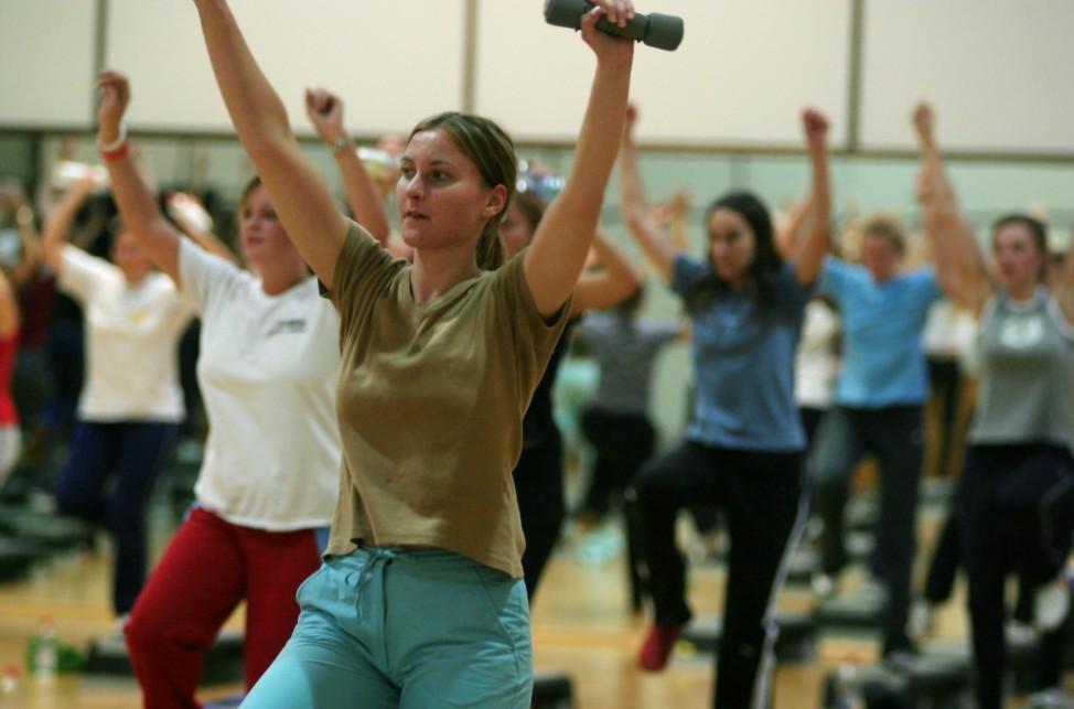 Studentinnen beim Hochschulsport, 2005