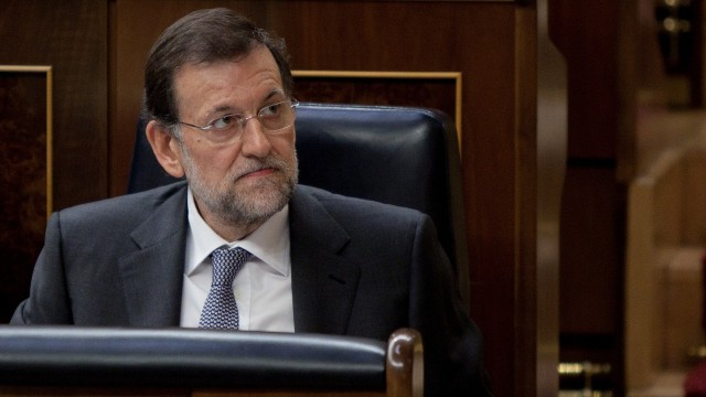 Spanish Prime Minister Mariano Rajoy Speaks In Parliament